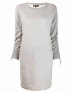 Loro Piana round neck knitted dress - Grey