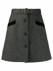 Miu Miu herringbone mini skirt - Black