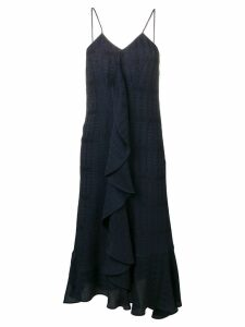 Victoria Beckham frilled cami midi dress - Blue