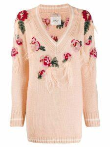 Twin-Set fringe knit jumper - Neutrals