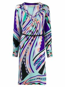 Emilio Pucci abstract print midi dress - Purple