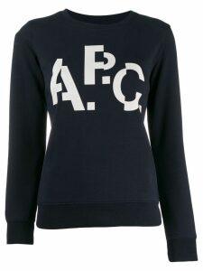 A.P.C. contrast print jumper - Blue