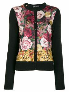 Dolce & Gabbana cashmere floral cardigan - Black