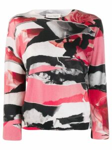 Alexander McQueen abstract print jumper - White