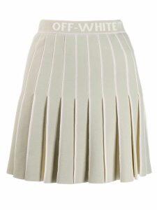 Off-White pleated mini skirt - Grey