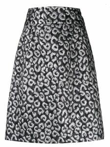 Dolce & Gabbana leopard cloqué skirt - Black