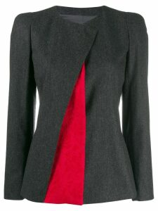 Giorgio Armani layered front jacket - Grey