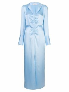Arias gathered front dress - Blue