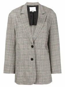 3.1 Phillip Lim Oversized Wool Checked Blazer - Black