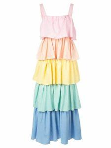 Olivia Rubin tiered rainbow dress - Multicolour