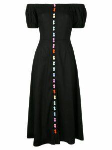 Olivia Rubin rainbow button dress - Black