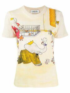 Lanvin Babar the elephant print T-shirt - Neutrals