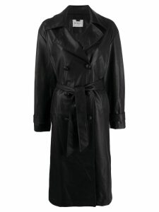 be blumarine belted trench coat - Black
