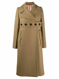 Nº21 belted double-breasted coat - Neutrals