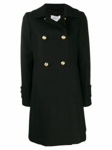 be blumarine double breasted coat - Black