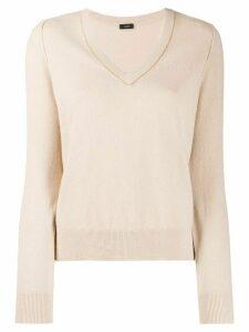 Joseph V-neck sweater - Neutrals