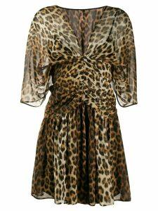 Nº21 leopard print dress - Brown