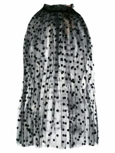 Nº21 polka dot print sheer top - Black