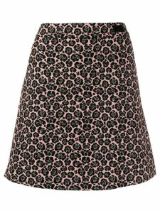 be blumarine a-line leopard print skirt - Pink
