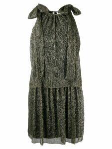 be blumarine metallic knit dress - Gold