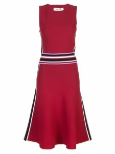 Diane von Furstenberg fluted hem knit dress - Red