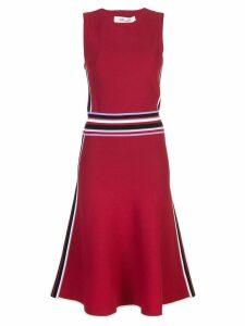 Diane von Furstenberg fluted hem knit dress - Red