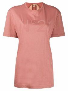Nº21 printed logo T-shirt - Pink