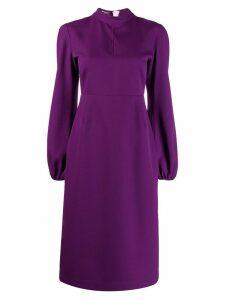 Rochas bishop sleeve midi dress - Purple