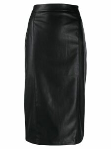 be blumarine faux leather pencil skirt - Black