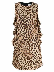be blumarine leopard print mini dress - Brown