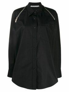 Alexander Wang shoulder zip shirt - Black