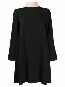 be blumarine tie neck shift dress - Black