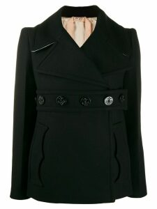 Nº21 belted double-breasted coat - Black