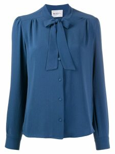 be blumarine pleated shirt - Blue