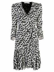 Diane von Furstenberg printed wrap dress - White