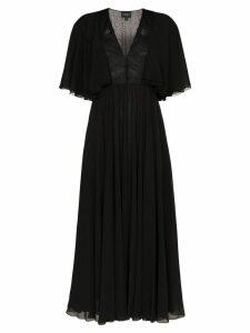 Giambattista Valli Georgette flared sleeve dress - Black