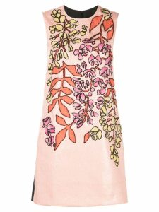 Carolina Herrera embroidered shift dress - Pink