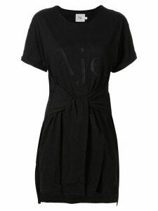 Aje logo print T-shirt dress - Black