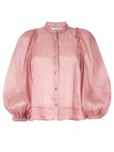 Aje balloon sleeves shirt - Pink