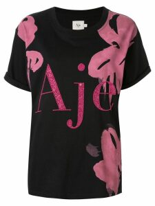 Aje embellished logo T-shirt - Black