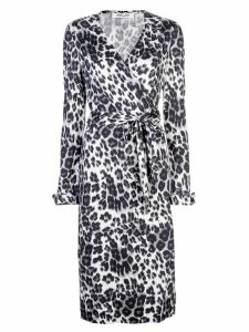 Diane von Furstenberg leopard-print wrap dress - Black