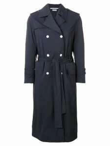 Thom Browne Nylon Shell Trench Coat - Blue