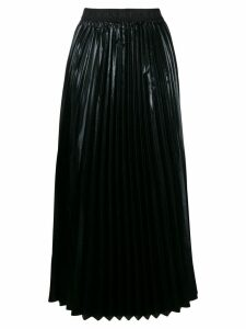 P.A.R.O.S.H. logo pleated skirt - Black