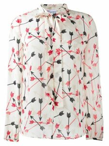 Red Valentino arrow print blouse - Neutrals