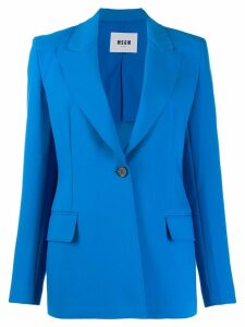 MSGM single-breasted blazer - Blue