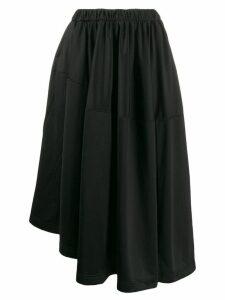 Y-3 asymmetric hem full skirt - Black