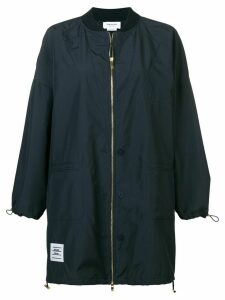 Thom Browne Oversized Trompe L'Oeil Ripstop Bomber - Blue