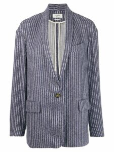 Isabel Marant Étoile Piety striped blazer - Blue