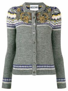 Moschino embellished knit cardigan - Grey