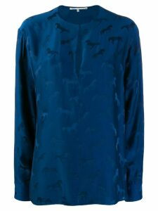 Stella McCartney horse print blouse - Blue